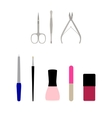 a set of flat manicure vector image vector image