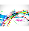 abstract wave line vector image