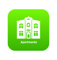 apartments icon green vector image