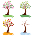 Apple trees vector | Price: 1 Credit (USD $1)