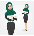 arabic woman holding her baby vector image vector image