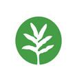 Asian green leaf logo simple icon design