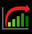 bar graph icon vector image vector image