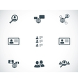 black people search icons set vector image vector image