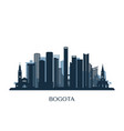 bogota skyline monochrome silhouette vector image vector image