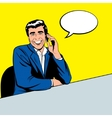 businessman speaking phone vector image