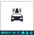 Car alarm icon flat vector image vector image