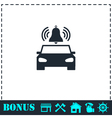 Car alarm icon flat vector image