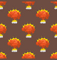 cartoon explosion boom effect seamless pattern vector image vector image