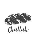 challah bread glyph icon vector image vector image