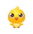 Chicken Baby Animal In Girly Sweet Style vector image