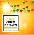 cinco de mayo poster over yellow background vector image