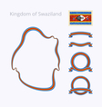 Colors of Swaziland vector image