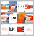 creative brochure templates with colorful gradient vector image