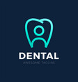creative human and teeth logo template for family vector image vector image