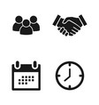 deal icons collection business concept people vector image vector image