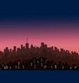 decorative horizontal morning landscape modern vector image vector image