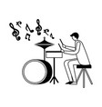 drummer musician man orchestra instrument vector image vector image