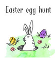 easter rabbit and eggs vector image vector image