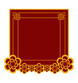 empty chinese banner vector image