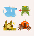 fairy tale cartoon characters and magic vector image