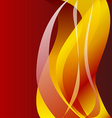 Fiery flame on a dark background vector image vector image