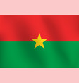 flag of burkina faso - vector image