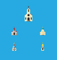 flat icon building set of traditional religious vector image