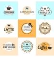 Flat line Vintage Coffee Labels Logo design vector image vector image