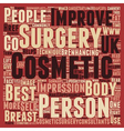 General Cosmetic Surgery text background wordcloud vector image vector image