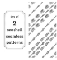 Geometric seamless pattern of seashells vector image vector image