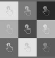 hand click on button grayscale version of vector image vector image