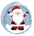 happy santa in snow vector image vector image