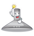 have an idea kitchen hood cartoon the for cooking vector image