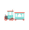 kids cartoon toy train cute railroad toy with vector image vector image