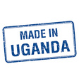 made in Uganda blue square isolated stamp vector image vector image