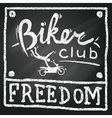 motobikers club poster vector image vector image