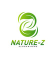 nature z logo design initial z logo template vector image vector image