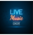 Neon Live Music Concert Acoustic Party Poster vector image vector image