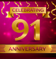 ninety one years anniversary celebration design