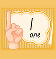 number one hand gesture vector image
