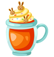 orange juice with whip cream vector image