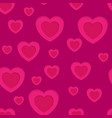 pink hearts abstract seamless background vector image