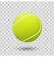 realistic flying tennis ball closeup vector image vector image