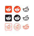 reddit social media icons vector image