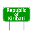 Republic of Kiribati road sign vector image vector image