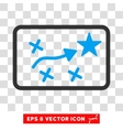 Route Plan Eps Icon vector image vector image