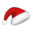 santa claus hat icon realistic style vector image
