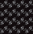 Seamless Abstract Floral GrayScale Pattern vector image vector image