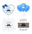 set four fathers day backgrounds vector image